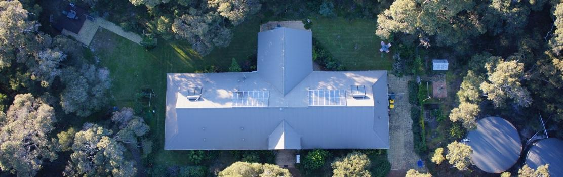 Aerial Looking N above Front Entrance